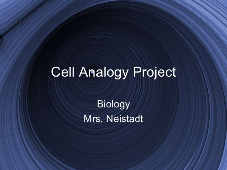 Cell Analogy Project       Biology     Mrs. Neistadt