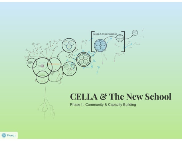 CELLA and the New School - Phase 1 Community and Capacity Building