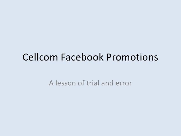 Cellcom facebook promotions