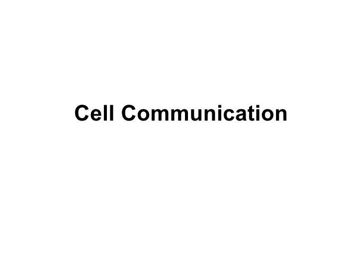 Cell Communciation