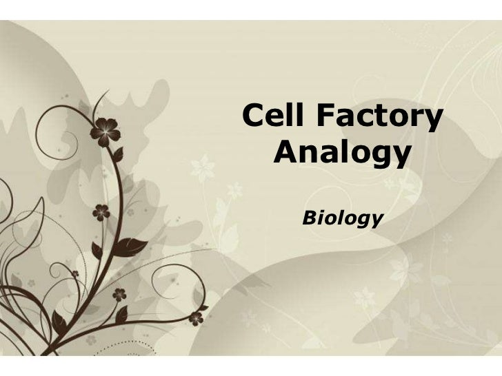 Cell Factory         Analogy                  BiologyFree Powerpoint Templates   Page 1