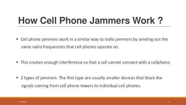 Call block cell phone , cell phone signal Block device