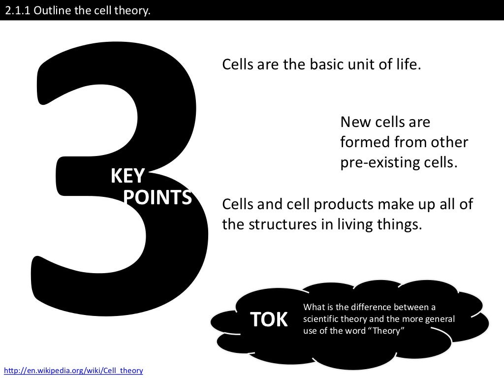 theory outline Cell theory 211 outline the cell theory the cell theory states that: all living organisms are composed of cells multicellular organisms (example: humans) are.