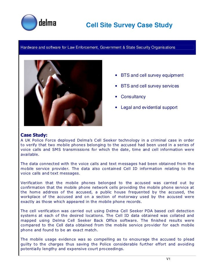Cell Site Survey Case Study   Hardware and software for Law Enforcement, Government & State Security Organisations        ...