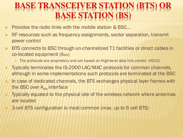 Base Transceiver Station Ppt Base Transceiver Station Bts