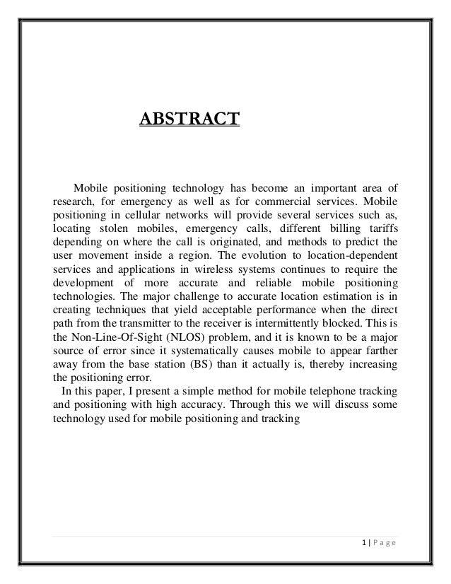 Cellular positioning (1)