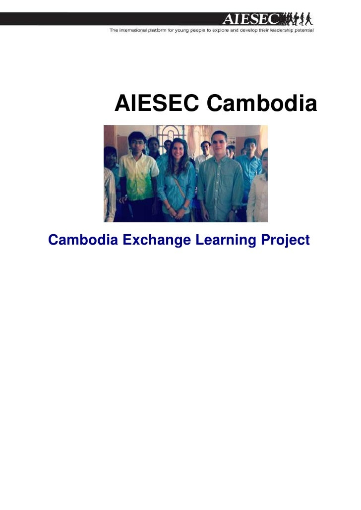 AIESEC CambodiaCambodia Exchange Learning Project