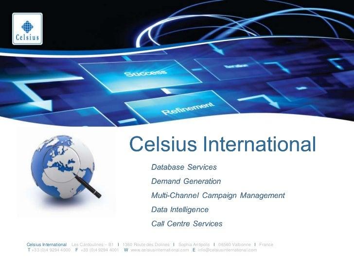 Celsius International EMEA B2B Marketing Data Services