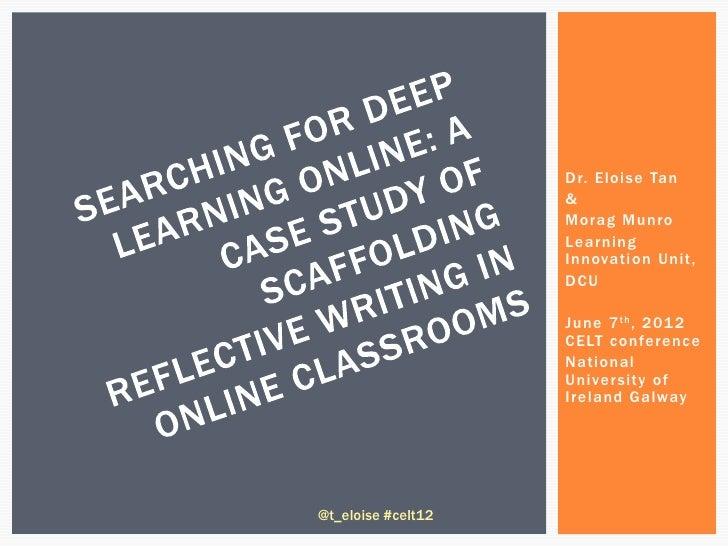 Dr. Eloise Tan                    &                    Morag Munro                    Learning                    Innovati...