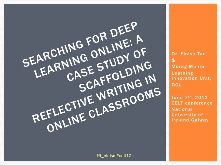 A case study of reflective learning online