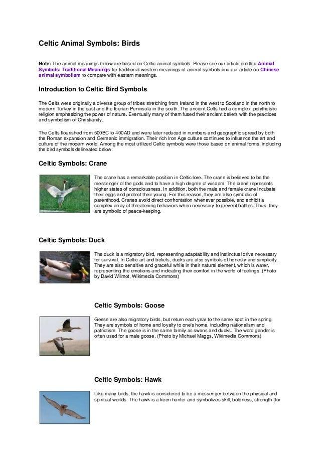 Celtic bird symbols ( from google.com )