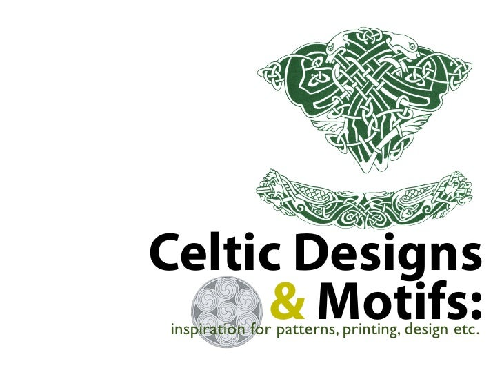 Celtic Designs & Motifs: Inspirations for patterns, printing and desi…