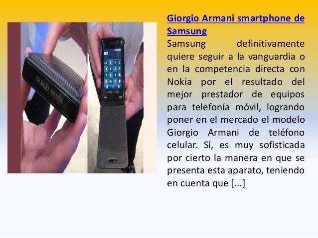 Giorgio Armani smartphone de Samsung Samsung definitivamente quiere seguir a la vanguardia o en la competencia directa con...