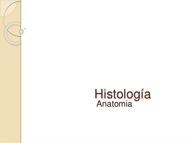 Histología Anatomia