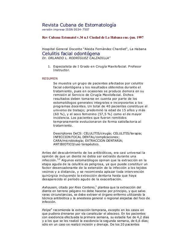 Revista Cubana de Estomatología versión impresa ISSN 0034-7507  Rev Cubana Estomatol v.34 n.1 Ciudad de La Habana ene.-jun...