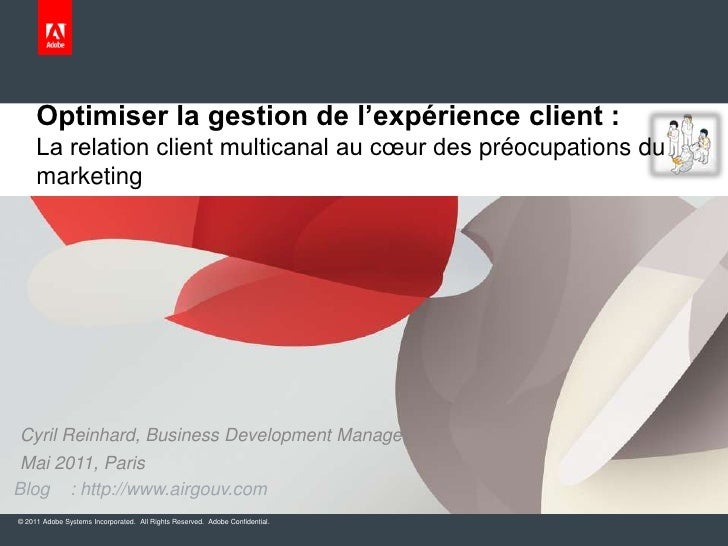 Optimiser la gestion de l'expérience client : La relation client multicanal au cœur des préocupations du marketing<br />Cy...