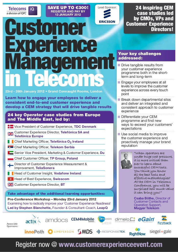 Customer Experience Management in Telecoms