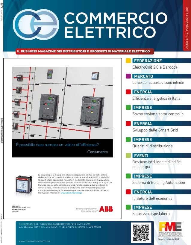 Commercio Elettrico Marzo 2014