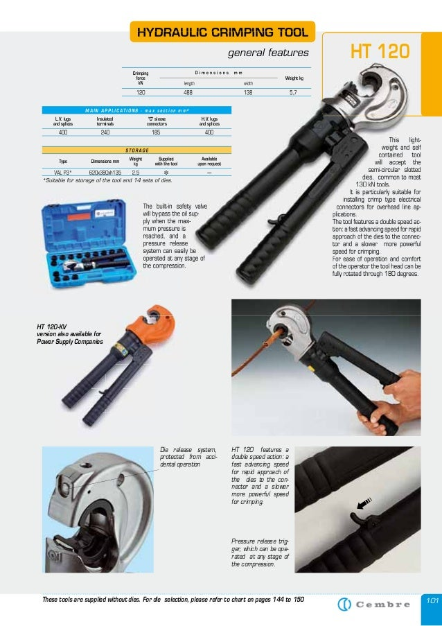 cembre ht120 hydraulic crimping tool. Black Bedroom Furniture Sets. Home Design Ideas