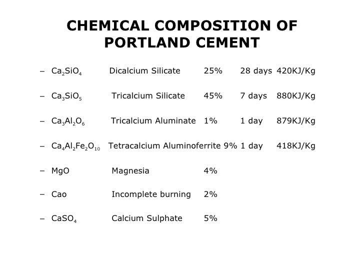 Portland Cement Composition : Cement