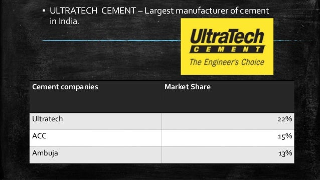 Ultratech Cement Market : Introduction to cement