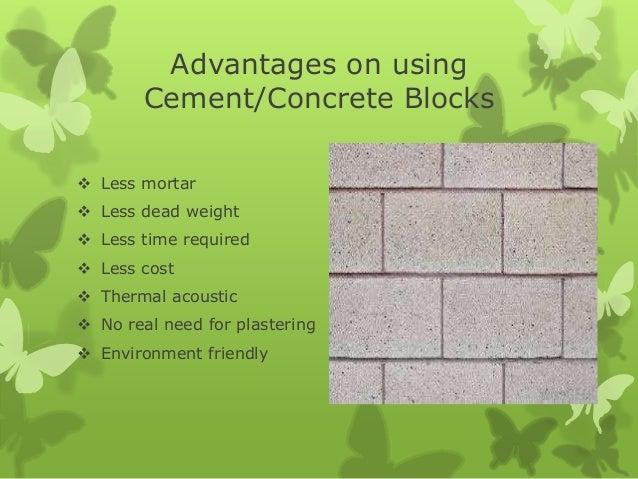 Types of Cement Blocks M³ 10cm Sand-cement Block