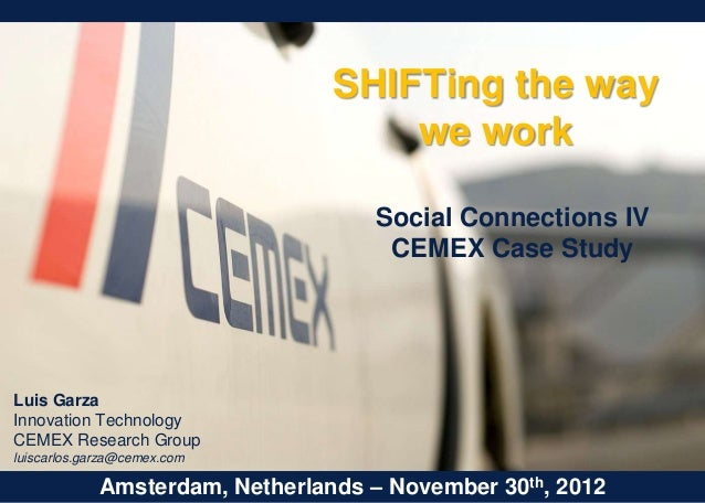 SHIFTing the way we work at CEMEX