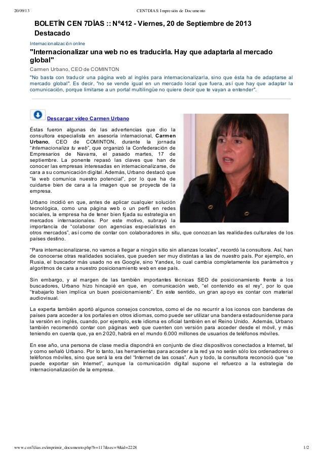 Internacionalización online, marketing y comunicación para el desarrollo exterior. COMINTON.