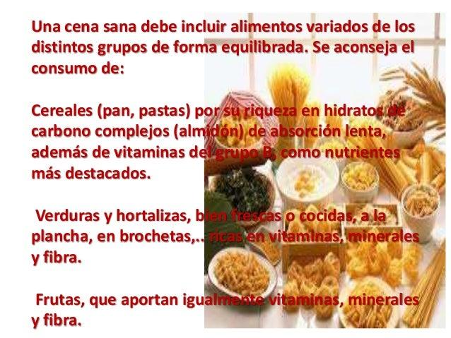 Cena - Como preparar una cena saludable ...