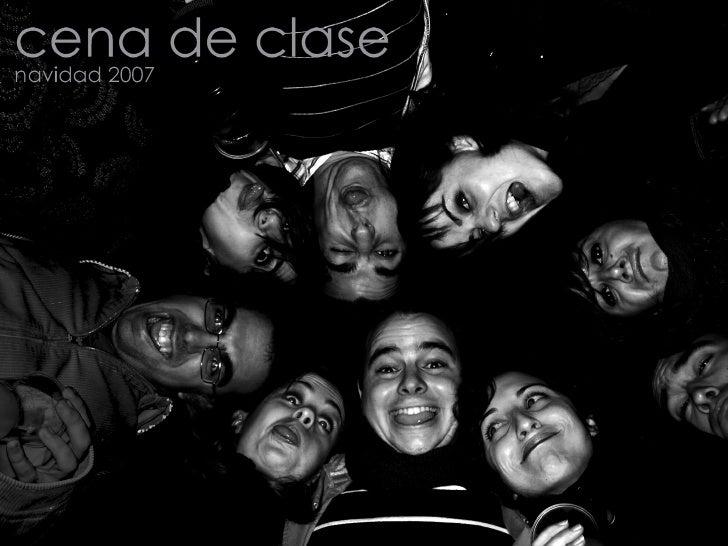 cena de Clase. navidad 2007