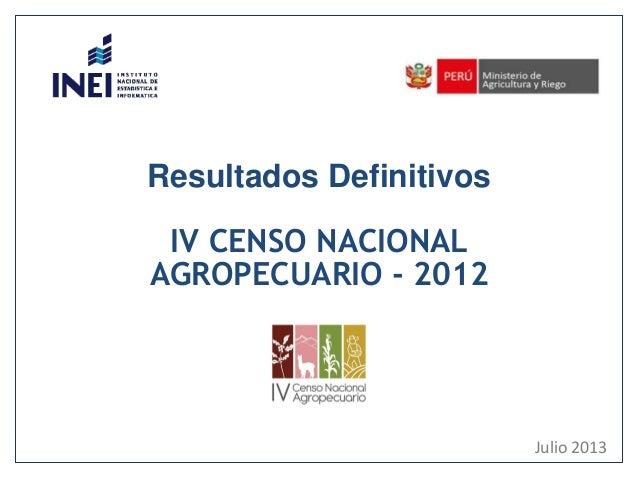 MINAG - censo nacional agropecuario 2012