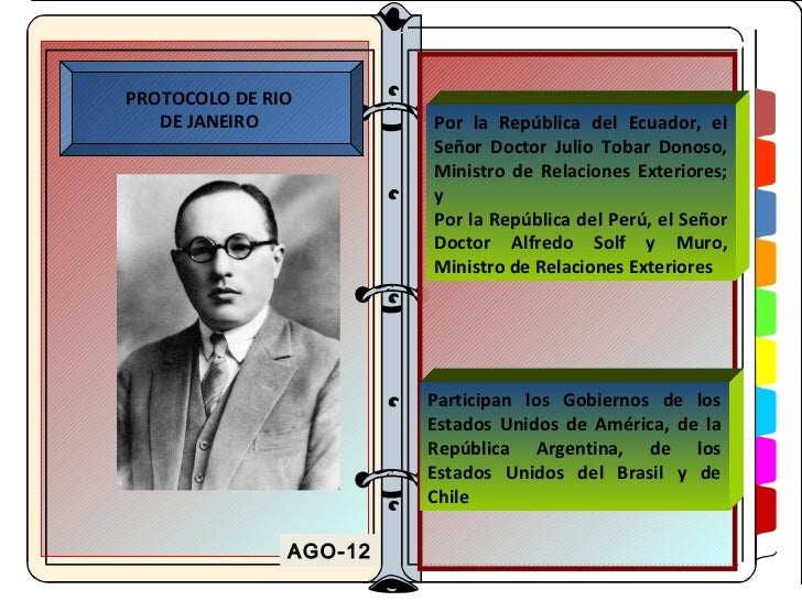 PROTOCOLO DE RIO   DE JANEIRO           Por la República del Ecuador, el                        Señor Doctor Julio Tobar D...