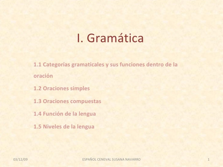 Ceneval segunda semana Gramática