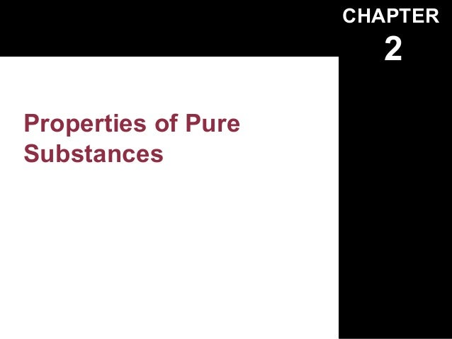 CHAPTER                        2Properties of PureSubstances