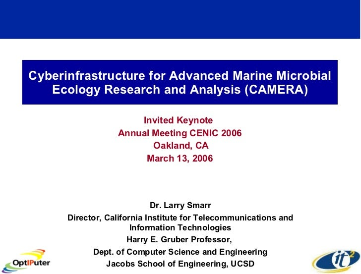 Cyberinfrastructure for Advanced Marine Microbial Ecology Research and Analysis (CAMERA) Invited Keynote  Annual Meeting C...