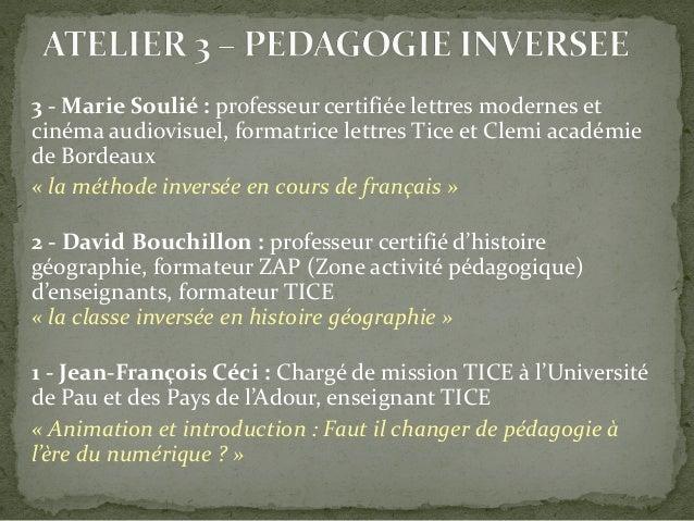 3 - Marie Soulié : professeur certifiée lettres modernes et cinéma audiovisuel, formatrice lettres Tice et Clemi académie ...