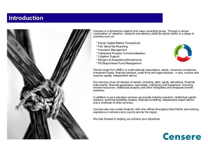 Introduction               Censere is a transaction support and value consulting group. Through a unique               com...