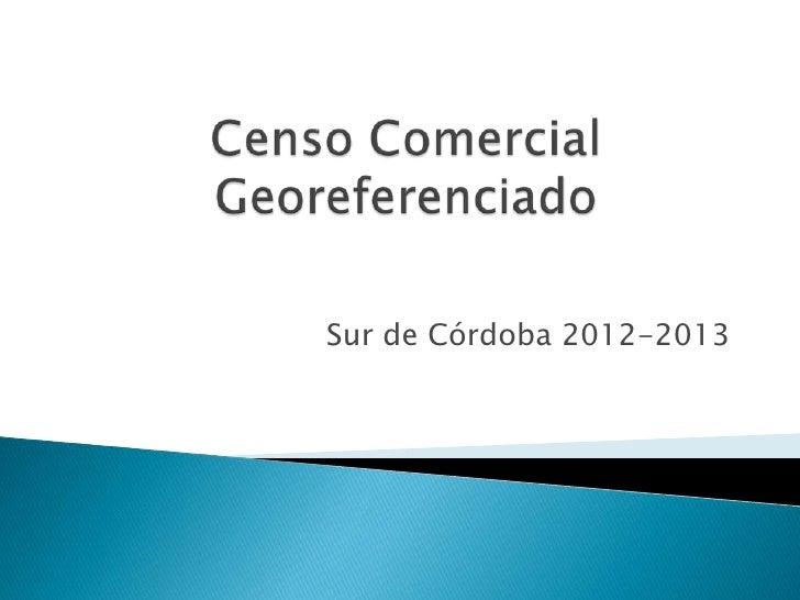 Sur de Córdoba 2012-2013
