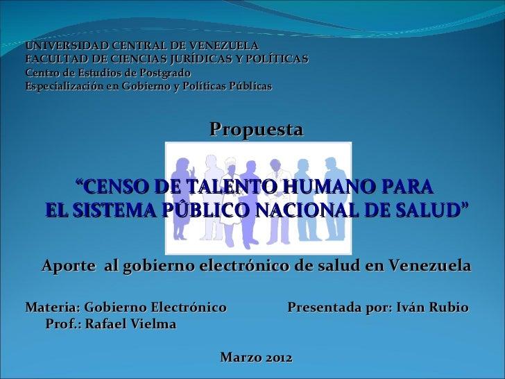 UNIVERSIDAD CENTRAL DE VENEZUELAFACULTAD DE CIENCIAS JURÍDICAS Y POLÍTICASCentro de Estudios de PostgradoEspecialización e...