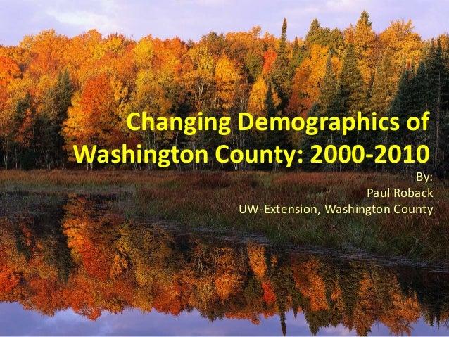 Washington County Census Highlights 2013