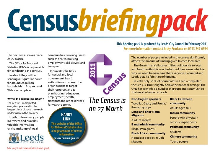 Census 2011 briefing pack final