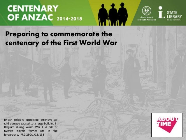 Preparing to commemorate the centenary of the First World War