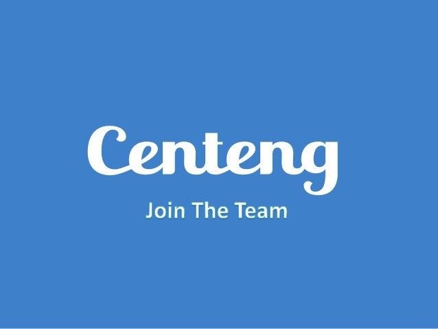 Join Centeng Team