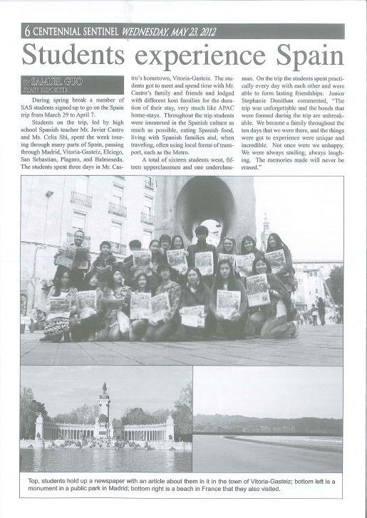 Centennial Sentinel - Wednesday May 23, 2012