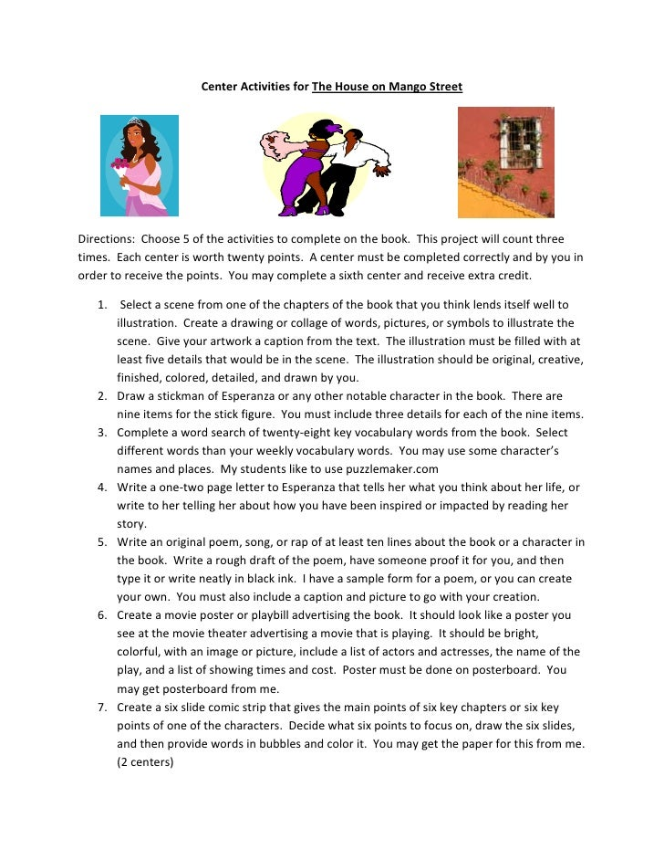 lierary response 1 house on mango A summary of chapters 11–12 in s e hinton's the outsiders learn exactly what happened in this chapter, scene,  sodapop runs out of the house,.
