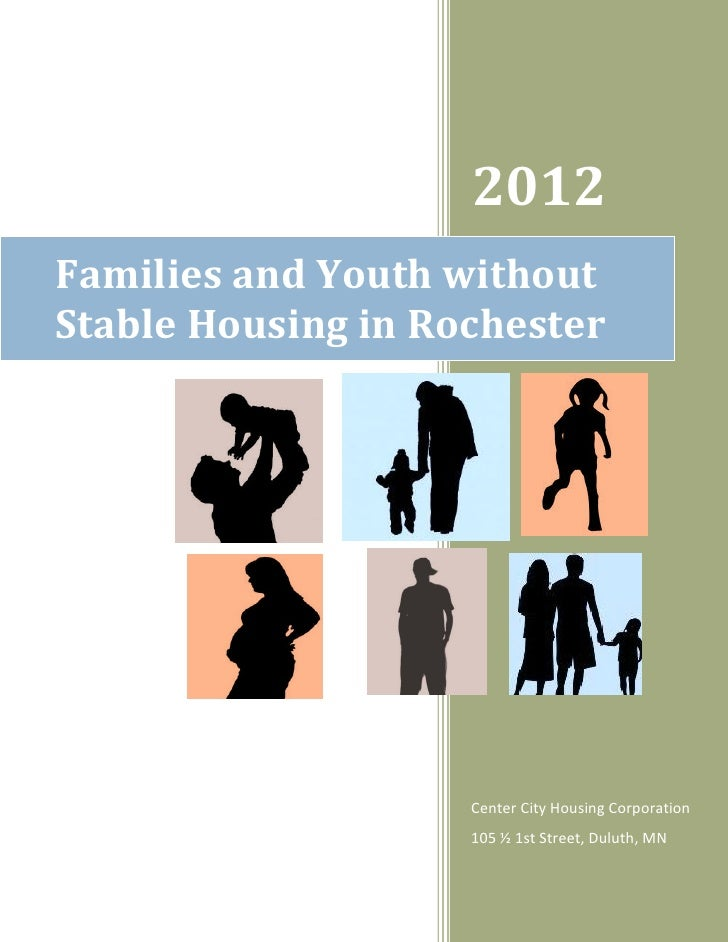 2012Families and Youth withoutStable Housing in Rochester                    Center City Housing Corporation              ...