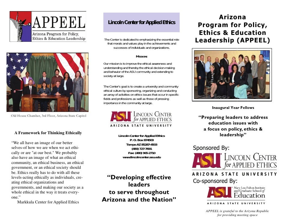 Arizona                                                          Lincoln Center for Applied Ethics                        ...
