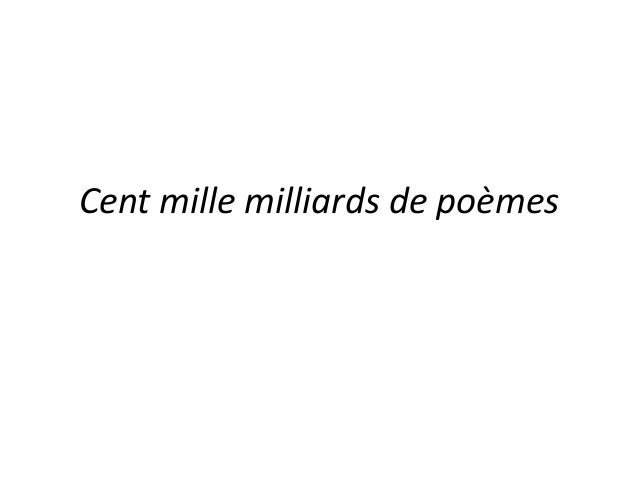 Cent mille milliards de poèmes
