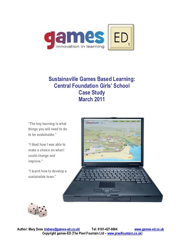 Sustainaville Games Based Learning:                       Central Foundation Girls' School                                ...