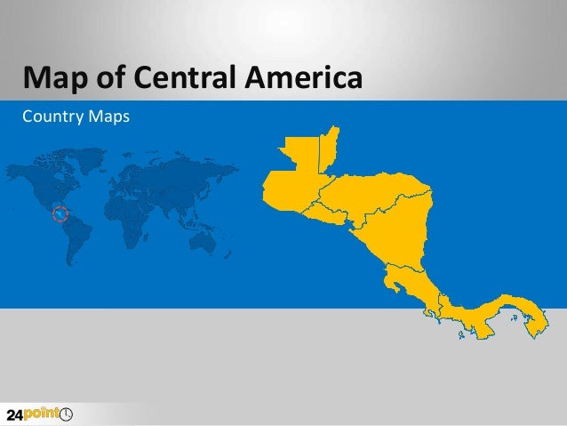 Central America Country Map - Fully Editable PowerPoint Slides